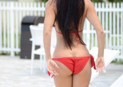 "Anais Zanotti ""Red Bikini On Miami Beach"""
