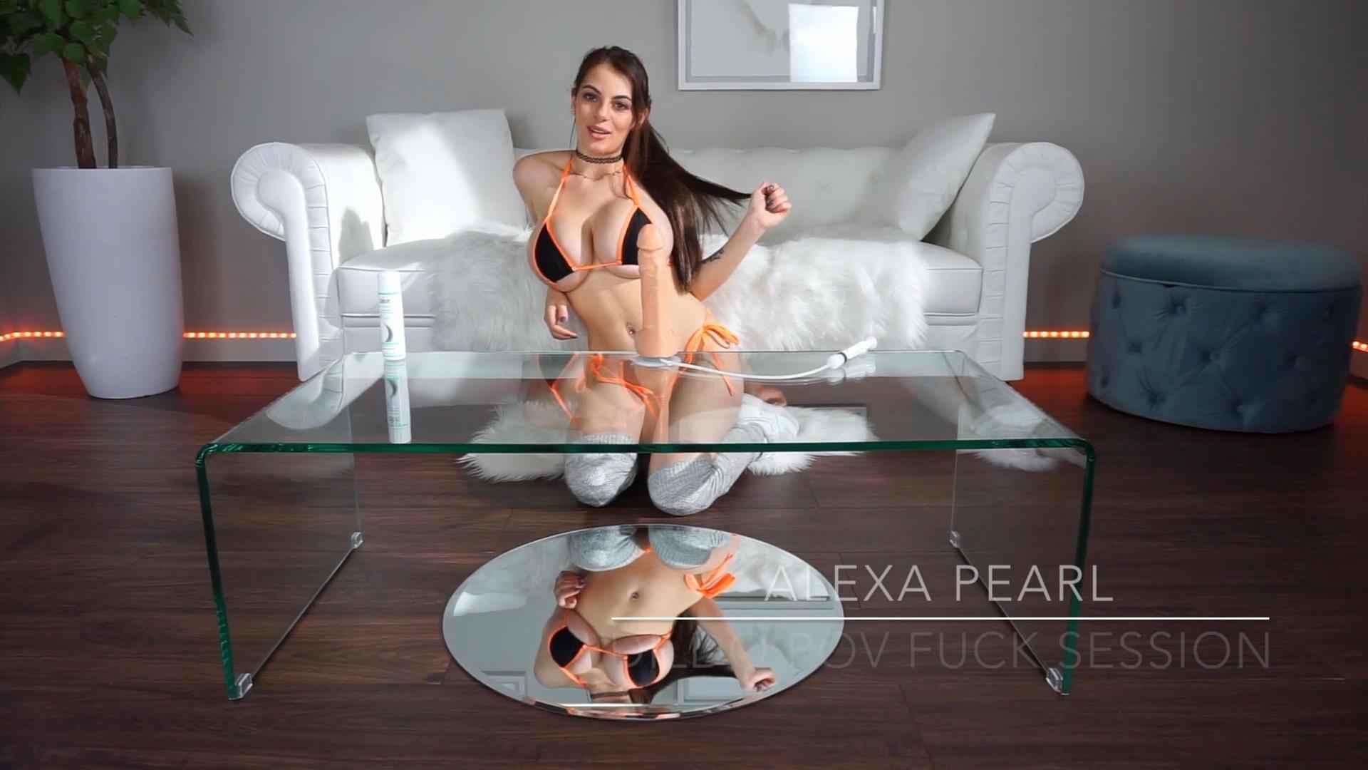 "#VIDEO Alexa Pearl ""Giant tits Dildo Ride"""