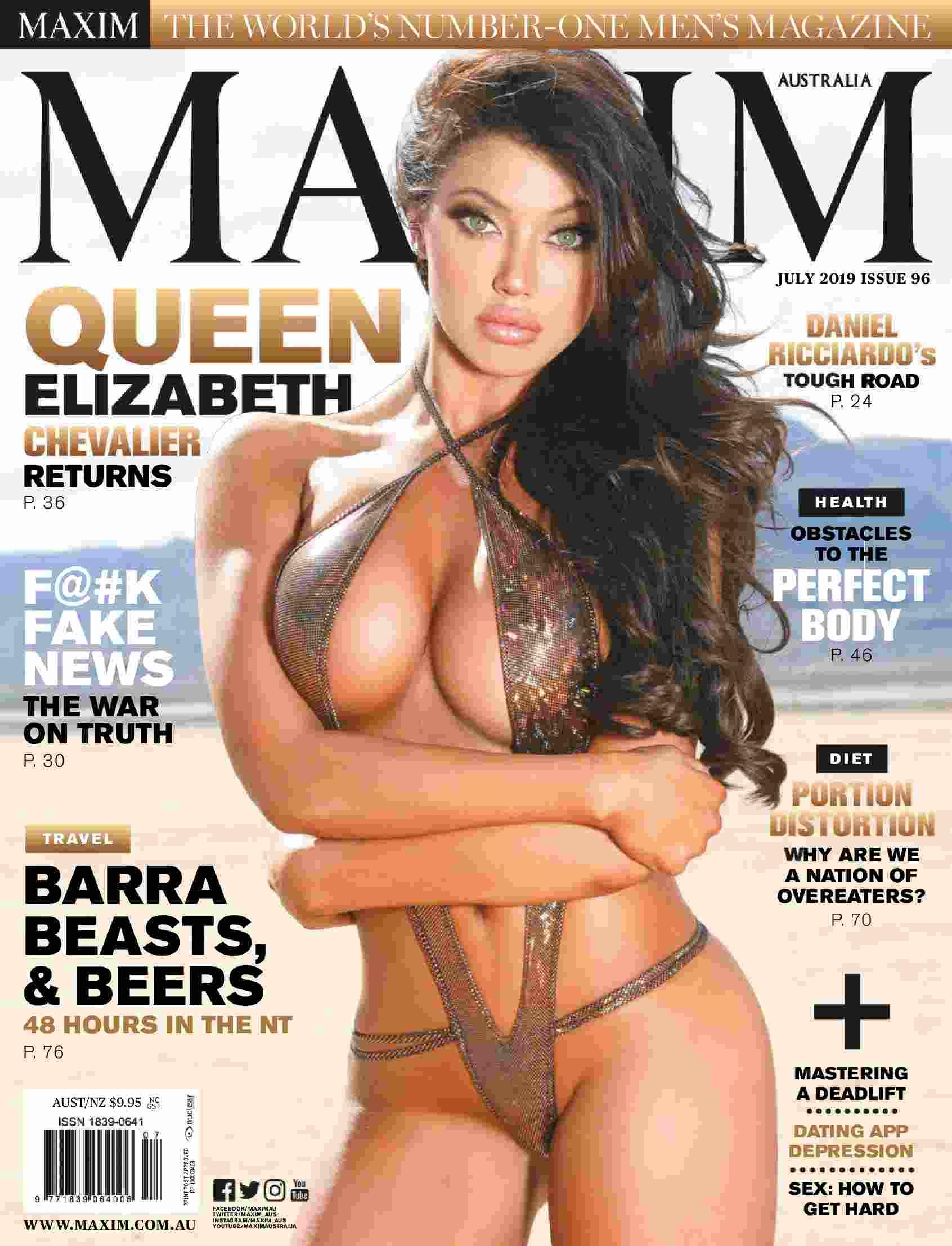 "Maxim Australia ""July 2019"" Elizabeth Chevalier"