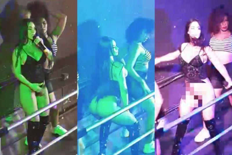 #VIDEO Diosa Canales muestra todo y se le rompe el vestido