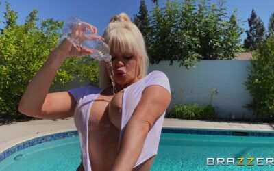 Nikki Delano Gets Wet By The Pool