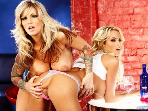 Stormy Daniels & Janine Lindemulder At The Bar