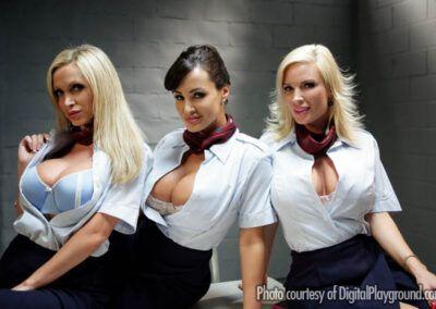 Lisa Ann, Nikki Benz & Diamond Foxx Fly Girls