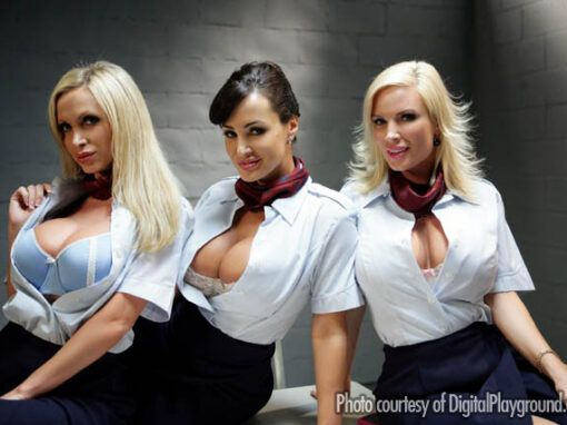 Lisa Ann, Nikki Benz & Diamond Foxx Fly Girls