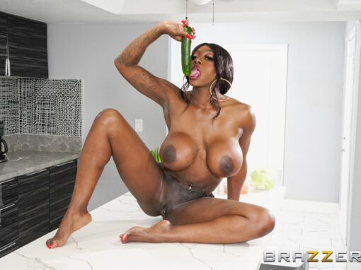Ebony Mystique Stuck In The Booty With You!